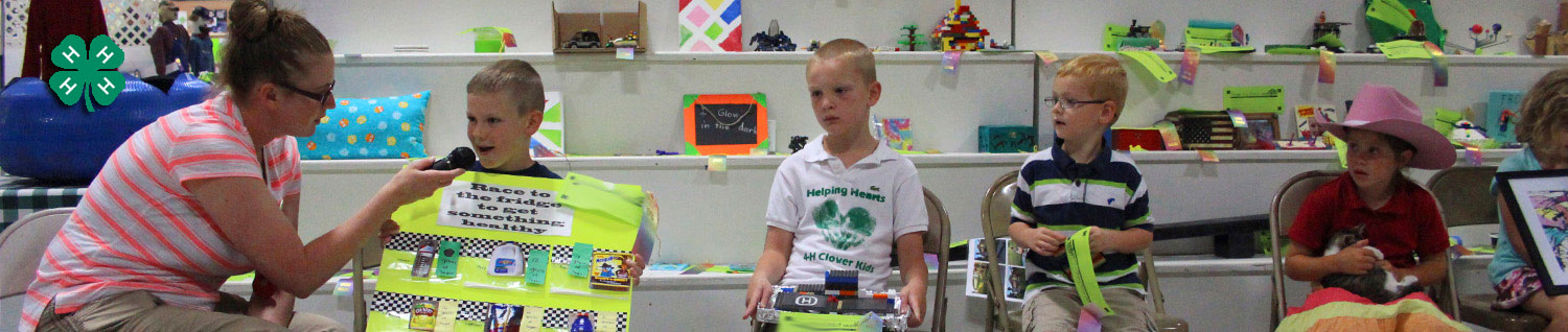 4-H Clover Kids Show and Tell at the Lancaster County Super Fair