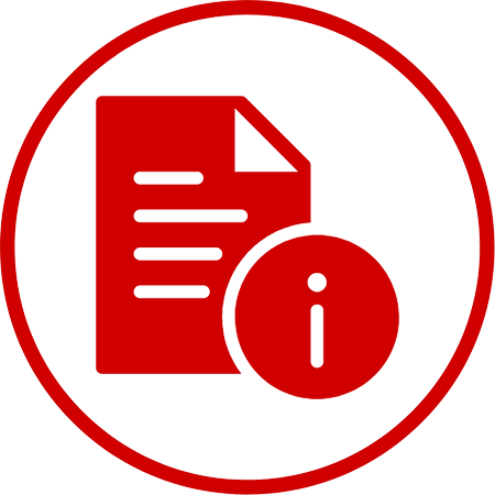 Letter or handout icon