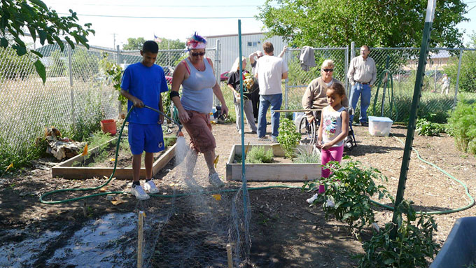 Working with the City Mission Gardens
