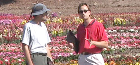 Video Still of Annuals and Perennials DVD with co-host, John Fech (right)