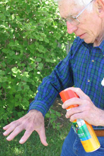 Using an Insect Repellent - Photo by UNL Extension in Lancaster County